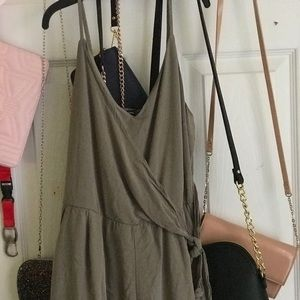 Olive green wrapped jumper